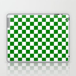 Small Checkered - White and Green Laptop & iPad Skin