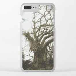 Thee Olde Tree Clear iPhone Case