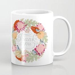 Thanksgiving thank you card Coffee Mug