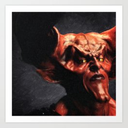 Lord Of Darkness Art Print