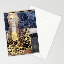 Pallas Athena by Klimt Brothers Gustav and George Stationery Cards