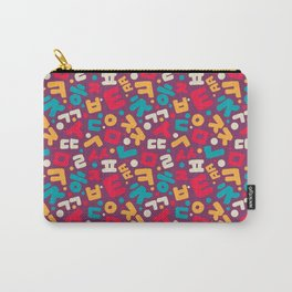 Korean alphabet pattern Carry-All Pouch