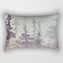 Purple Foggy Trees Rectangular Pillow