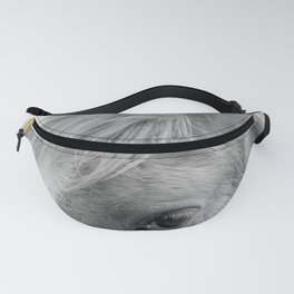 Eye Of The Horse Monochrome Fanny Pack