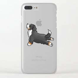 Bernese Mountain Dog Yoga Clear iPhone Case