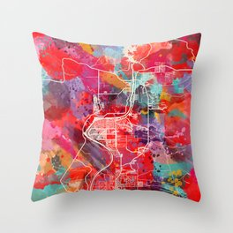Bullhead City map Arizona AZ 2 Throw Pillow