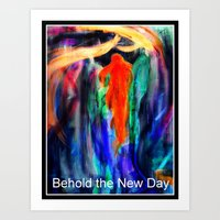 Behold the Angel of Days  Art Print