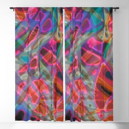 Colorful Abstract Stained Glass G297 Blackout Curtain