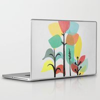 gray Laptop & iPad Skins featuring Tropical Groove (gray) by Picomodi