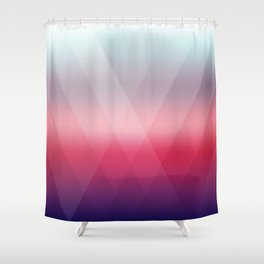 Fading Geometry Shower Curtain