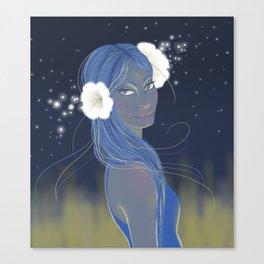 Moon Flower Canvas Print