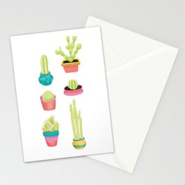 Cacti Family Portrait Stationery Cards