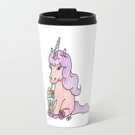 Unicorn with ice-cream Travel Mug