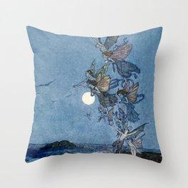 """Elves"" Fairy Tale Art by Edmund Dulac Throw Pillow"