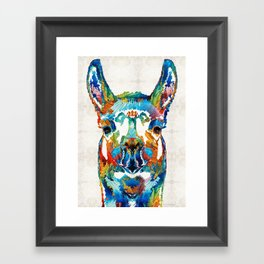 Colorful Llama Art - The Prince - By Sharon Cummings Framed Art Print