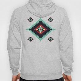 Southwest Santa Fe Geometric Tribal Indian Pattern Hoody
