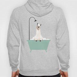 Llama Enjoying Bubble Bath Hoody