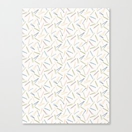 Hand drawn abstract Christmas foliage pattern. Canvas Print
