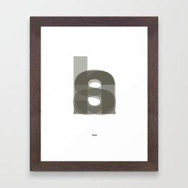 Die Neue Haas Grotesk (A-02) Framed Art Print