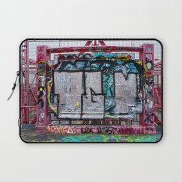 Making Your Mark on the Williamsburg Bridge Laptop Sleeve