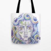 medusa Tote Bags featuring MEDUSA by Pumpkinstrudel Studio