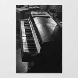 Vintage Keyboard Canvas Print