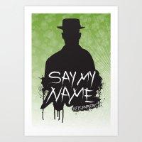 Say My Name - Heisenberg (Silhouette version) Art Print