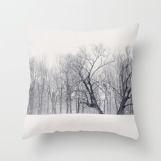 Into the Blizzard Throw Pillow