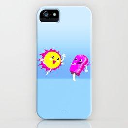 Sun Hug Ice Cream Scream iPhone Case