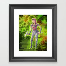 Steampunk Goddess Framed Art Print