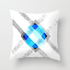 X And The Blue Throw Pillow