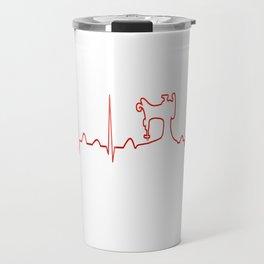 SEWING MACHINE HEARTBEAT Travel Mug