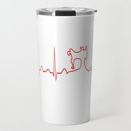 SEWING MACHINE HEARTBEAT Travel Mug