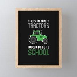 Tractor Shirt Funny Gift For Farmer Framed Mini Art Print