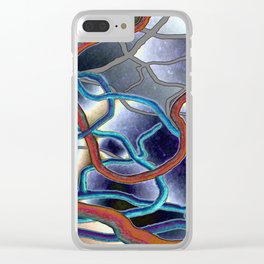 Twig Tangles Foiled Clear iPhone Case