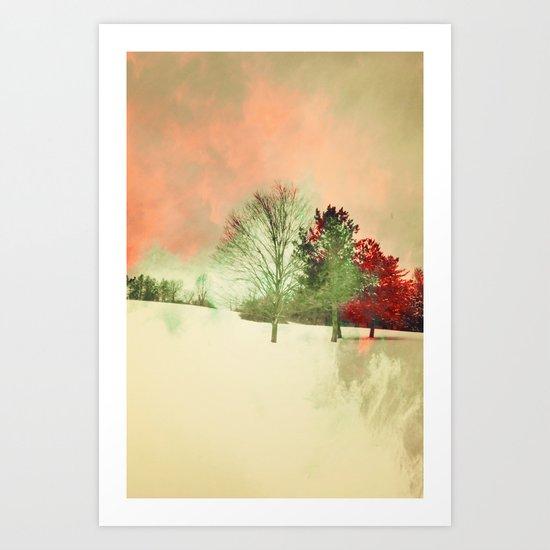 Winter Settlement Art Print