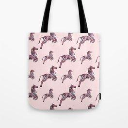 African pink zebras Tote Bag
