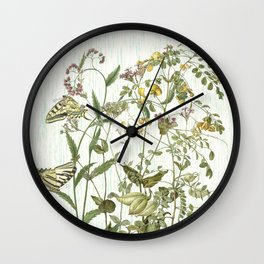 Cultivating my mind garden Wall Clock