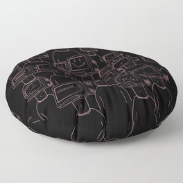 Focus On The Good (Black and Pink) Floor Pillow