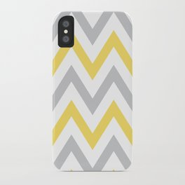 Gray & Yellow Chevron iPhone Case