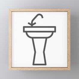 Faucet and sink bathroom elements in Design Fashion Modern Style Illustration Framed Mini Art Print