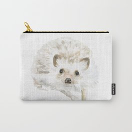 Watercolor Hedgehog Painting - Woodland Animal Art Carry-All Pouch