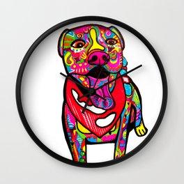 Pitbull Linus Wall Clock