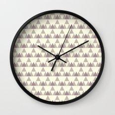 Tiny Triangles Wall Clock