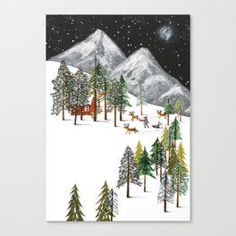 Winter Adventure Canvas Print