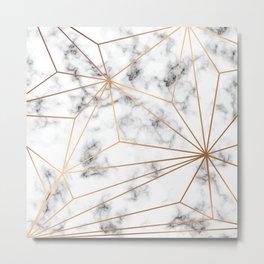 Marble & Gold 046 Metal Print