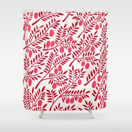 Olive Branches – Fiery Palette Shower Curtain