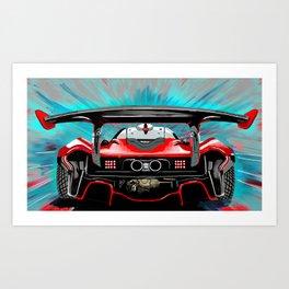 P1 Zoom Art Print