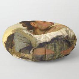 """Eugène Delacroix """"Jeune orpheline au cimetière (The Orphan Girl at the cemetery)"""" Floor Pillow"""