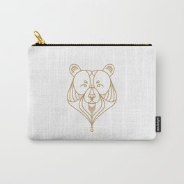Gold Bear Two Carry-All Pouch